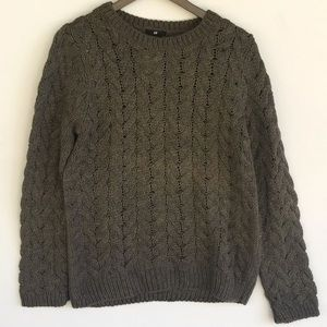 H&M L Long Sleeve Knit Sweater Forest Green